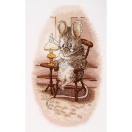 Мышка вышивальщица - Алисена - набор вышивки крестом