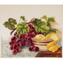 Набор вышивки крестом - Алисена - Гроздь винограда и лимон