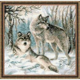 Набор для вышивки крестом - РИОЛИС - Волчья пара
