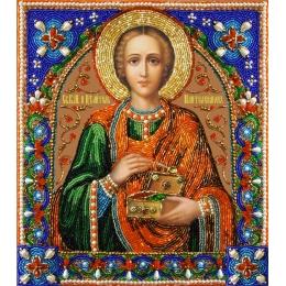 Святой целитель Пантелеимон - Изящное рукоделие - вышивка бисером икон