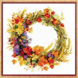 Набор для вышивки крестом - РИОЛИС - 1537 Венок с пшеницей