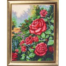 Набор для вышивки бисером - Butterfly - Розовый сад