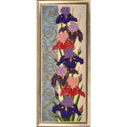 Набор для вышивки бисером - Butterfly - №155 Панно с ирисами