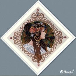 Брюнетка - ТМ Мережка - набор вышивки крестом