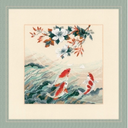 Набор для вышивки крестом - РИОЛИС - Танцующие рыбки
