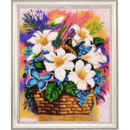 Набор для вышивки бисером - Butterfly - №162 Корзинка с лилиями