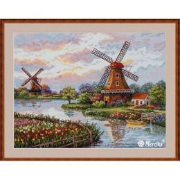 Голландские ветряные мельницы - ТМ Мережка - набор вышивки крестом