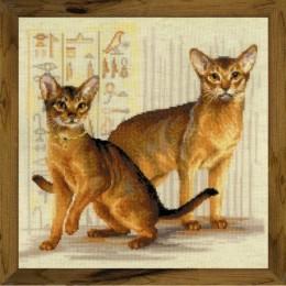 Абиссинские кошки - РИОЛИС - набор для вышивки крестом