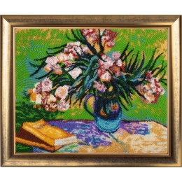 Набор для вышивки бисером - Butterfly - Олеандры и книги (по мотивам картины В. Ван Гога)