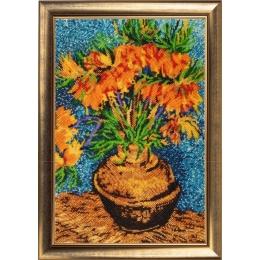 Цветы в медной вазе (по мотивам картины В. Ван Гога) - Butterfly - набор для вышивки бисером