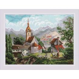 «Монастырь Шоненверт» по мотивам гравюр XIX века - РИОЛИС - набор для вышивки крестом