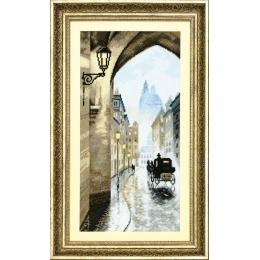Старый город, умытый дождем - Crystal Art - набор для вышивки крестом