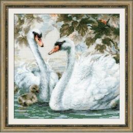 Набор для вышивки крестом - РИОЛИС - 1726 Белые лебеди