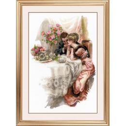 """""""Первый вечер в собственном доме"""" по мотивам картины Х. Фишера - РИОЛИС - набор для вышивки крестом"""