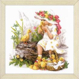 Девочка с утятами - РИОЛИС - набор для вышивки крестом
