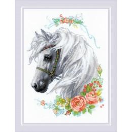 Белогривая лошадка - РИОЛИС - набор для вышивки крестом