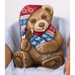 Набор для вышивки крестом - PANNA - ПД-1877 Подушка Мой Медвежонок
