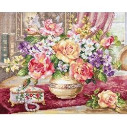 Розы в гостиной - Алиса - набор для вышивки крестом
