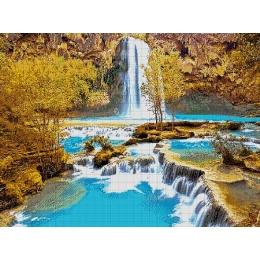 Авторский набор для вышивки бисером - Токарева А. - Водопад 32-2700-НВ