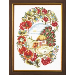 Набор для вышивки крестом - Чарівна Мить - М-209 Калиновая роспись