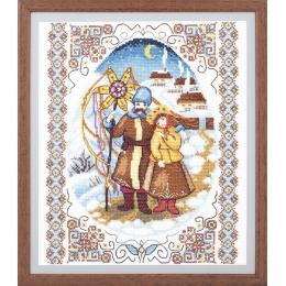 Набор для вышивки крестом - Crystal Art - Вечер перед Рождеством