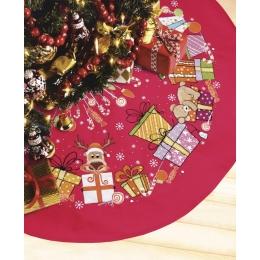 Набор для вышивки крестом - Crystal Art - Юбка для новогодней елки