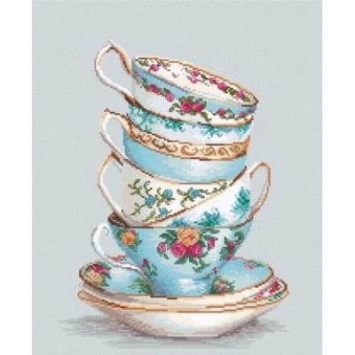 Бирюзовые чайные чашки - Luca-S - набор для вышивки крестом