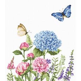 Летние цветы и бабочки - Luca-S - набор для вышивки крестом