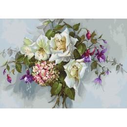 Букет с розами - Luca-S - набор для вышивки крестом