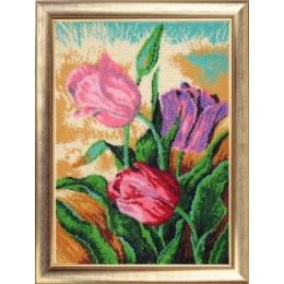 Набор для вышивки бисером - Butterfly - №249 Весенние тюльпаны