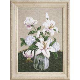 Набор для вышивки крестом - Чарівна Мить - М-280 Таинство белых цветов