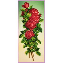 Букет красных роз - Картины бисером - набор вышивки бисером