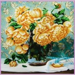 Набор для вышивки бисером - Картины бисером - Р-349 Натюрморт с розами