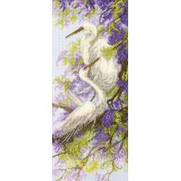 Набор вышивки крестом - Чарівна Мить - Цапли и глициния