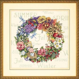 Набор для вышивки крестом - Dimensions - 35040 Wreath of all Season (Венок с временами года)