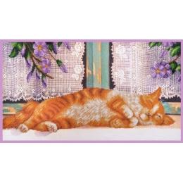 Рыжий кот - Картины бисером - набор для вышивки бисером