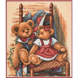 Мишки на стуле (Teddies on Quilt) - Dimensions - набор вышивки крестом