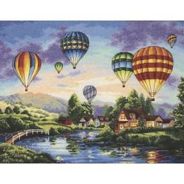 Balloon Glow (Воздушные шары) - Dimensions - набор для вышивки крестом