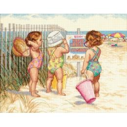 Beach Babies (Девочки на пляже) - Dimensions - набор для вышивки крестом