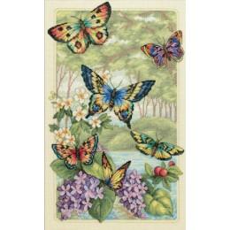 Лесные бабочки - Dimensions - набор для вышивки крестом