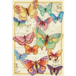 Красота бабочек - Dimensions - набор для вышивки крестом
