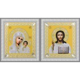 Набор венчальных икон (золото) - Картины бисером - вышивка бисером икон