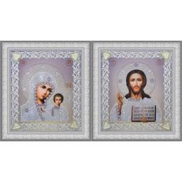 Набор венчальных икон (серебро) - Картины бисером - вышивка бисером икон