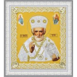 Икона Святителя Николая Чудотворца (золото) ажур - Картины бисером - вышивка бисером икон