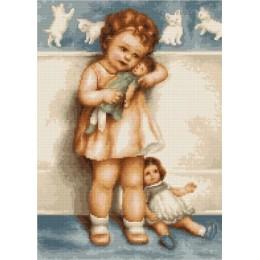 Девочка с куклой В370 - Luca-S - набор для вышивки крестом