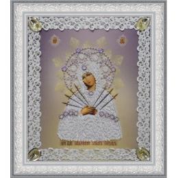 Икона Божьей Матери Семистрельная (ажур) - Картины бисером - вышивка бисером икон