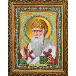 Икона Святителя Спиридона Тримифунтского - Картины бисером - вышивка бисером икон