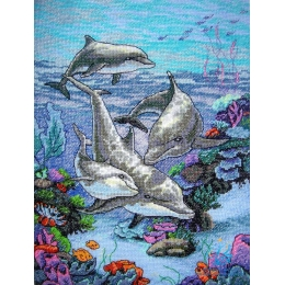 Набор для вышивки крестом - Dimensions - 03830 The Dolphins Domain (Царство дельфинов)
