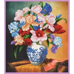 Набор для вышивки бисером - Картины бисером - Букет ирисов