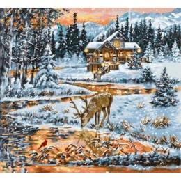 Хижина в лесу - Luca-S - набор для вышивки крестом